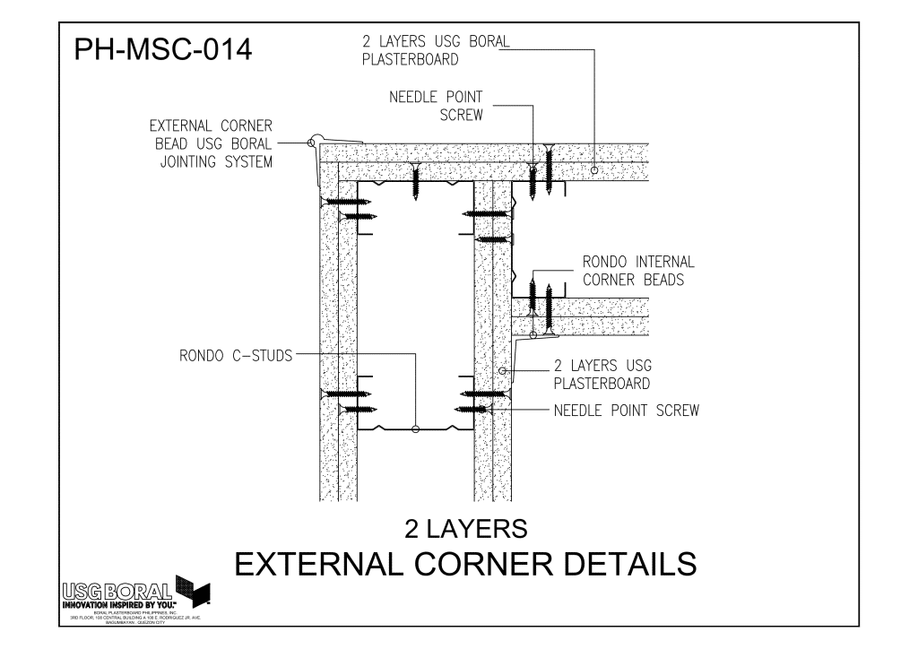 2 Layers-External Corner Details